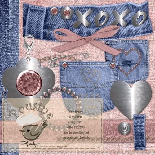 цифровой скрапбукинг, для фотографий, скрап набор, PSD шаблоны, джинсовый клипарт, джинсы, , рукоделки василисы