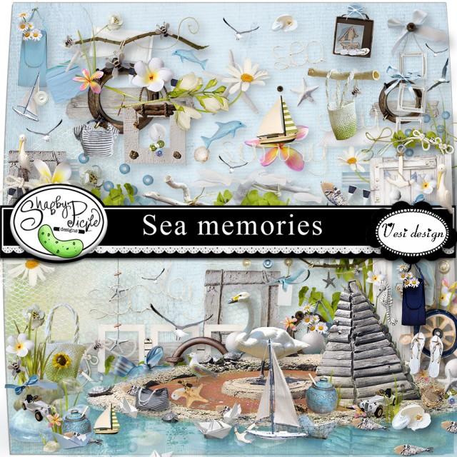 цифровой скрапбукинг, для фотографий, скрап набор, PSD шаблоны, море, путешествия, отдых, рукоделки василисы